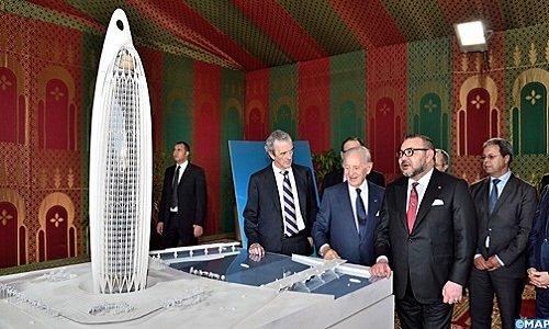 SM le Roi lance les travaux de construction d'une tour de 45 étages dans la vallée de Bouregreg