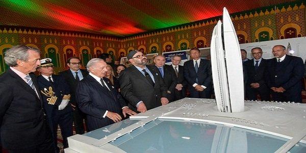 """SM le Roi préside la cérémonie de lancement officiel des travaux de construction de la """"Tour Mohammed VI"""", symbole de l'essor économique de la vallée de Bouregreg"""